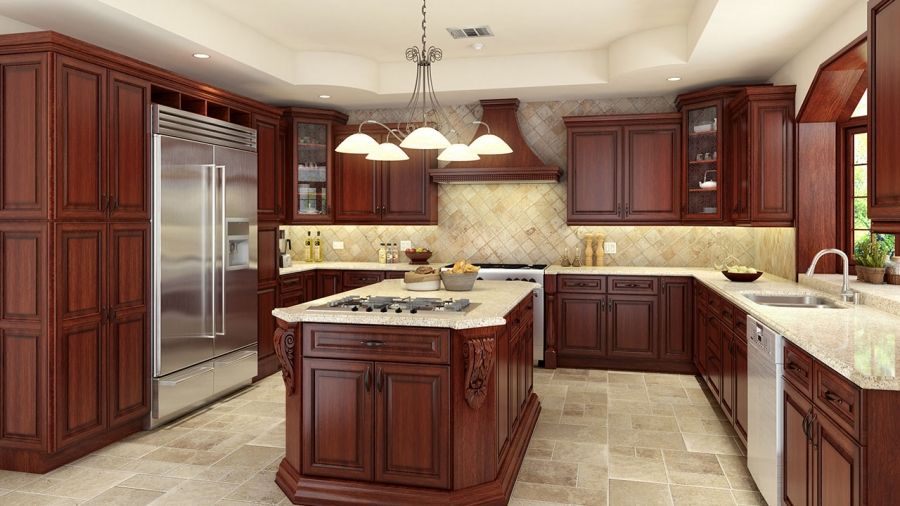 Walnut_Cherry_Kitchen_Cabinets_Orange_County,_CA